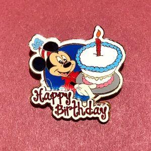Mickey Happy Birthday Disney Pin 2004